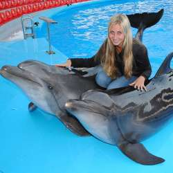 dolphin therapy specialist LIDIYA RUBTSOVA, photo
